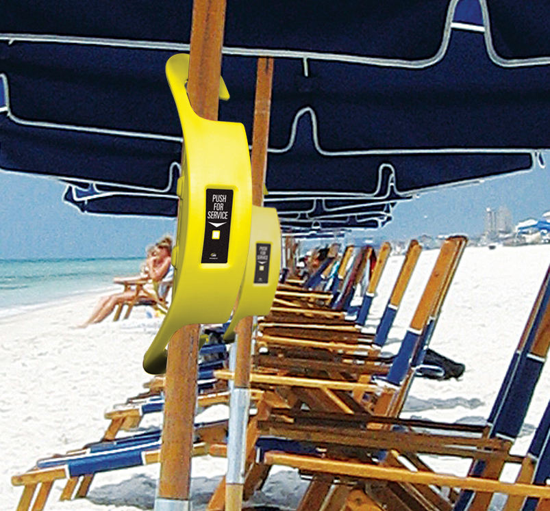 Beach Butler Lets Guests Call For Food Service From The